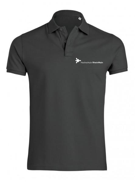 Herren Polo-Shirt grau, BIO